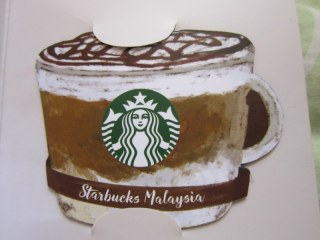 Starbucks Coffee Malaysia Asia Chocolate Hazelnut Macchiato Burnt Caramel magnet card limited edition